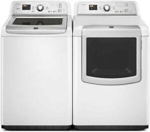 Maytag MVWB880BW0 Top Load Washer & MEDB880BW0 Dryer Pair White