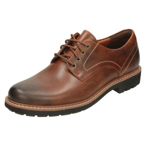 Casual Pelle scarpe Nera Con Uomo Batcombe Lacci Hall Clarks waa1Y