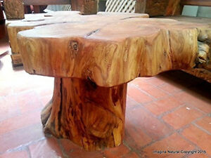 Naturally Unique Cypress Tree Trunk Handmade Coffee Table