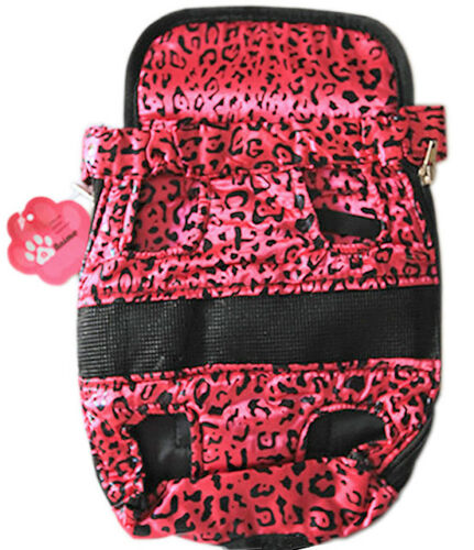 Medium Outdoor Backpack Carrier Pouch w// Chest Strap for Pet Dog Puppy Cat Pink