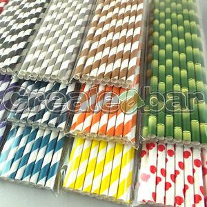 Paper-Straws-Vintage-Twisted-Stripe-Design-Drink-Straws-All-Colours