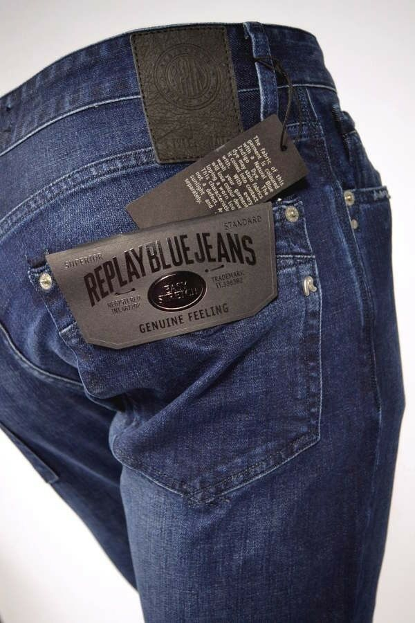 WIEDER DA  REPLAY Jeans MA955 31D 130 NEWBILL Dunkelblue Easy Stretch Denim