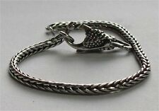 Authentic Sterling Silver TROLLBEADS 17cm BRACELET 19cm WITH SWAN LOCK. New