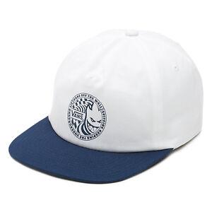 5eea2026c2d VANS off The Wall X Spitfire White Blue Adjustable Ltd Edn Snapback Hat Cap