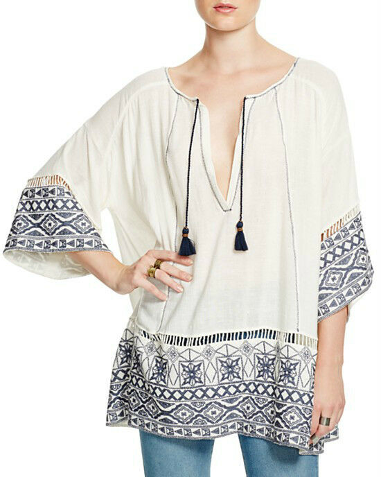 NWT FREE PEOPLE Cotton Noyal Counting Stars Tunic in Ivory  - XS,L