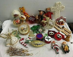 Vintage Ornaments Christmas Tree Ornaments  Lot  Holiday Decorations 30 pieces