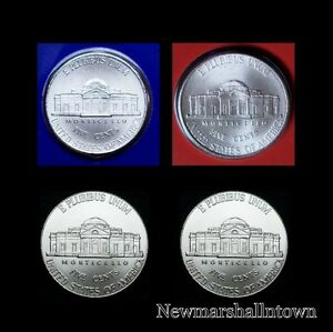 2012 2013 P+D Jefferson Nickel Set ~ Uncirculated U.S Mint Coins from Bank Roll
