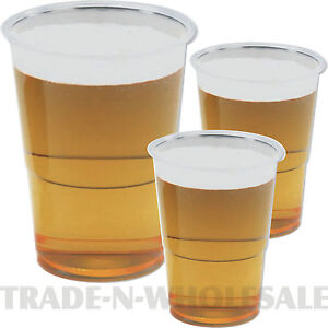 Clear strong plastic pint half pint tumblers disposable for How strong is acrylic glass