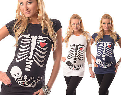 Skeleton-Adorable Slogan Cotton Printed Maternity Pregnancy Top T-shirt 2003/16