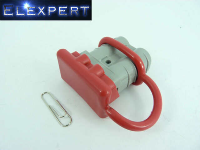 ANDERSON PLUG DUST COVER END CAP FOR SB 50 AMP CONNECTOR (RED RUBBER)