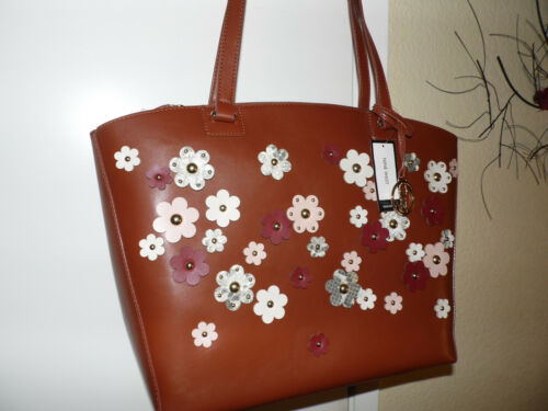W3d Flowers Shoulder Verkoopt99 Nine Brown West 00 Large Nwt Bag c3RS5Ajq4L