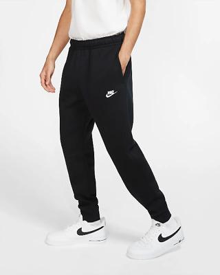 Pantalon Nike Homme Survêtement BV2671 010 Noir Sportswear Club Polaire Sportif | eBay