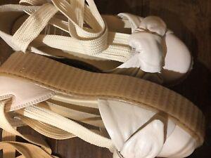 fa2959ebf0e Image is loading fenty-puma-Rihanna-bow-creeper-sandals-size-8
