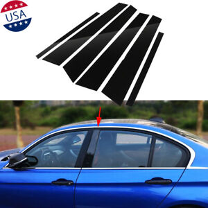 6x-New-Black-Pillar-Posts-Door-Glossy-Piano-Trims-for-BMW-5-Series-F10-2011-2017