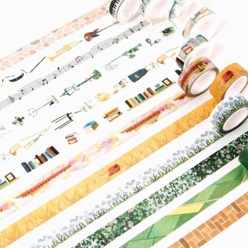 60Styles Retro Self Adhesive Colorful DIY Washi Masking Tape Sticker Craft Zccj