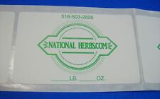 Printed Labels 250 Custom 25 X 4 Rectangle Business Stickers 1 Color Ink