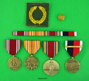 Army WWII Asia Pacific Medals, Ribbons, Meritorious Unit, WW2 Japan Occupation