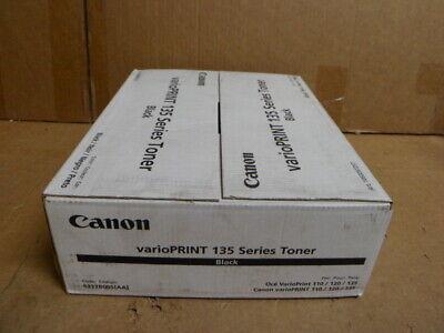 2 Pack Genuine OEM Canon Oce VarioPrint 135 Toner Black 1060097257 6117B005AA