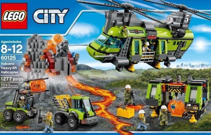 LEGO città (60125) Vulcano Heavy-Lift Helicopter  (Nuovo di Zecca & Sigillato in fabbrica) UN  grandi offerte