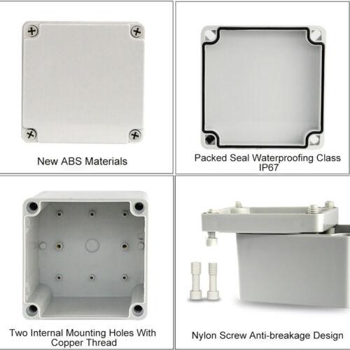 Details about  /ABS Kunststoff Leergehäuse IP67 Installationsgehäuse Elektronik Box Verteiler