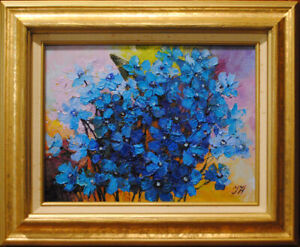 Garden-bouquet-with-delphinium-Original-framed-oil-on-canvas-9-034-x12-034-painting