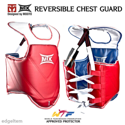 KTA Approved Protector CE MOOTO MTX TaeKwonDo Reversible Chest Guard WTF