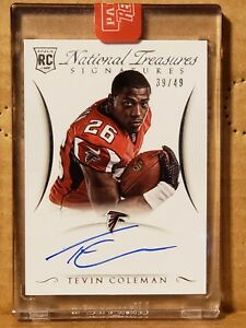 Tevin-Coleman-2015-National-Treasures-Rookie-Autograph-39-49-Falcons-RB