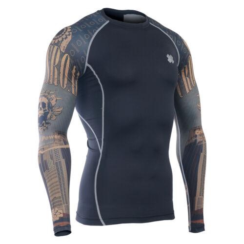 CPD/_B27 FIXGEAR Compression base layer shirt design training MMA gym big size