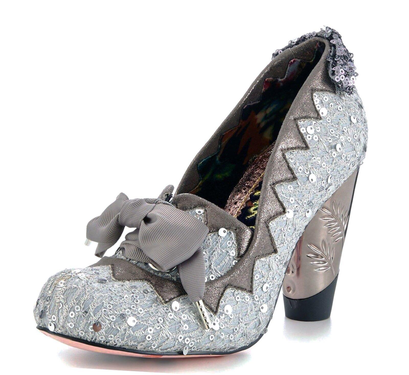 Irregular Choice nuevas goma burbujas gris Plata Lentejuelas Tacón Alto Alto Alto Zapatos con cordones de 3-9  Para tu estilo de juego a los precios más baratos.