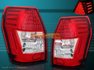 2005-2008 DODGE MAGNUM CHROME TAIL LIGHTS WITH LED PAIR 05 06 07 08 NEW