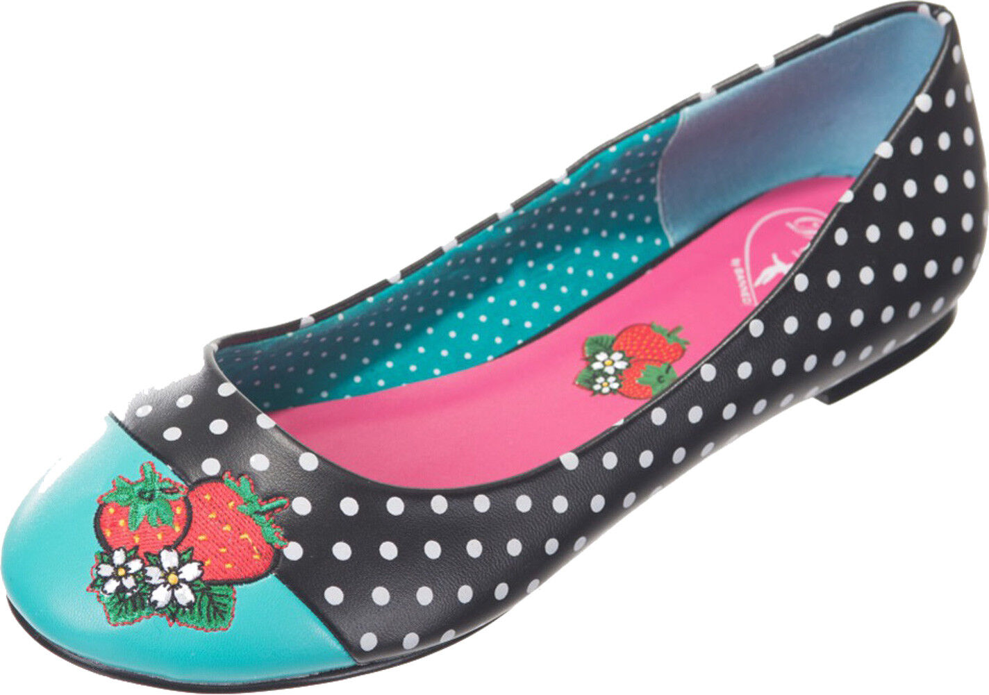 Dancing Days Isabella VINTAGE Polka Polka Polka Dots Strawberry Ballerine Rockabilly | Italia