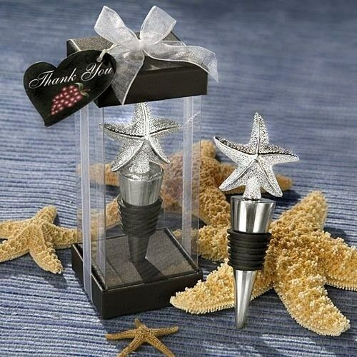 30 Beach Starfish Wine Bottle Stoppers Destination Wedding Bridal Party Favors
