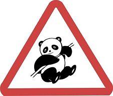Panda Roadsign Warning Road Sign Fun Sticker Decal Graphic Vinyl Label