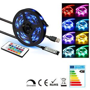 0-5m-5m-LED-Strip-RGB-Light-60SMD-m-TV-Back-Lighting-Kit-USB-Remote-Control-12V