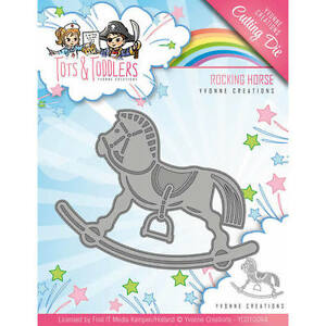 Cheval à Bascule-Tots and Toddlers-stanzschablone Yvonne CREATIONS ycd10094