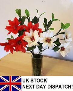 35cm-centro-Bouquet-Di-Fiori-Natale-Ivy-FELCE-Festive-Inverno-7-STELI