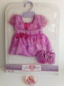 """You & Me ToysRUs Baby Doll Dress Slippers Purple 16"""" - 18"""""""