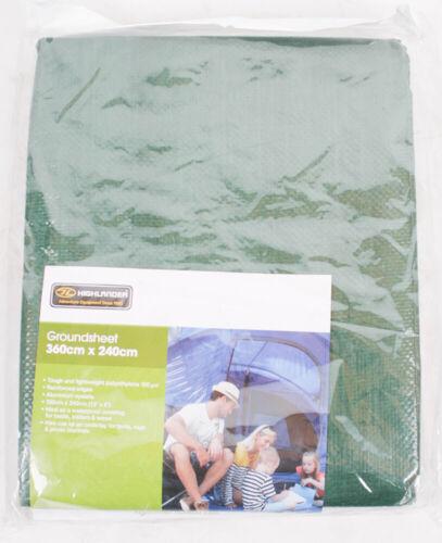 Highlander Tapis de sol vert Vert olive 30,5 cm x 20,3 cm 360 cm x 240 cm