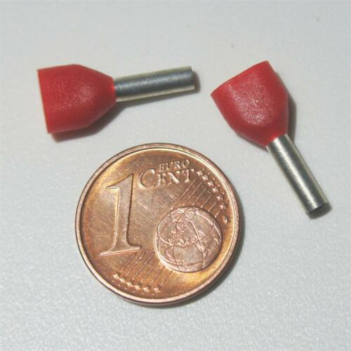 gambale isolati Rossi Duo terminatore 100 Twin-terminatore rosso 2x 1,00mm²