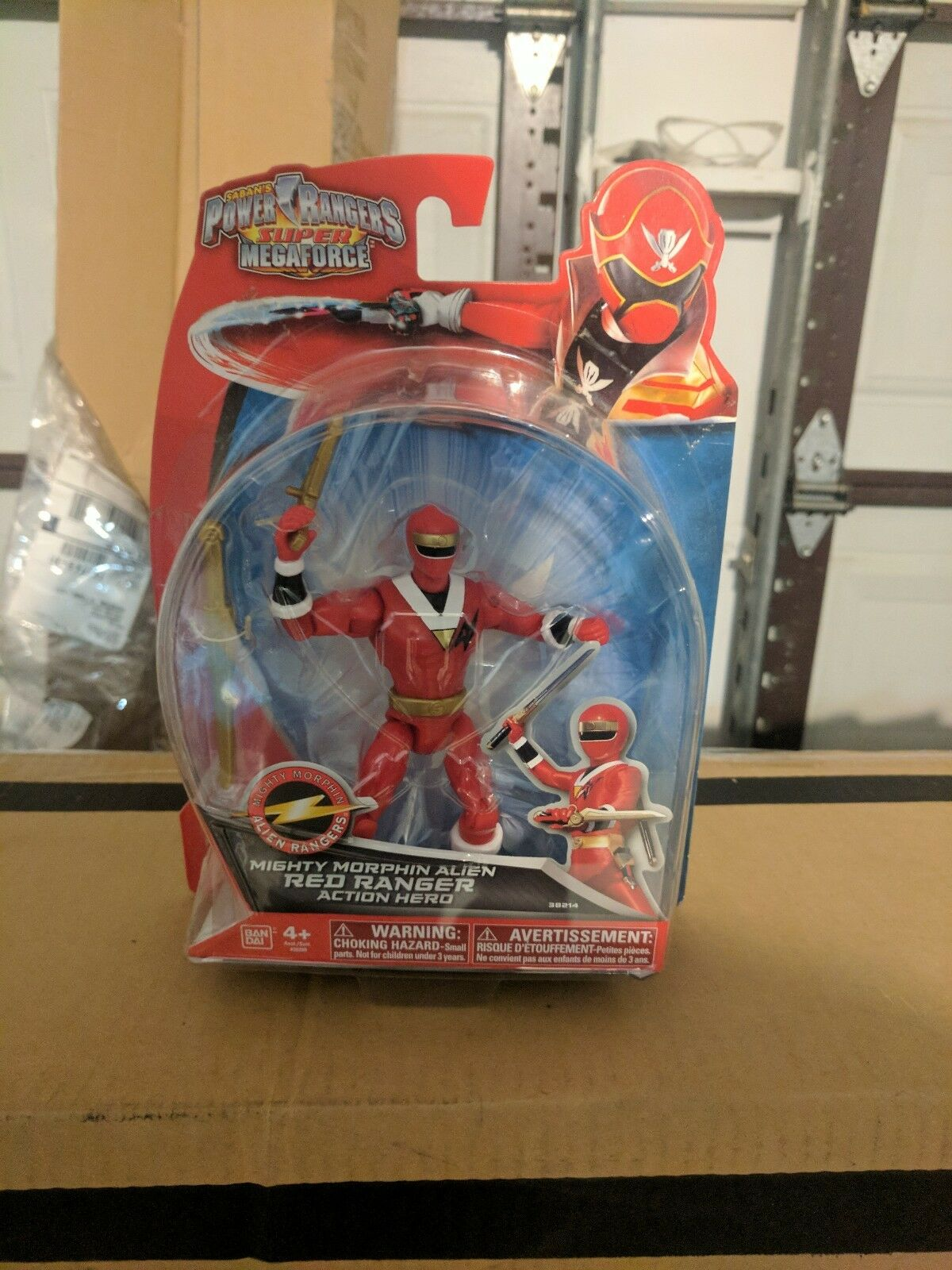 Power Rangers Super MegaForce Mighty Morphin Alien Red Ranger Action Hero