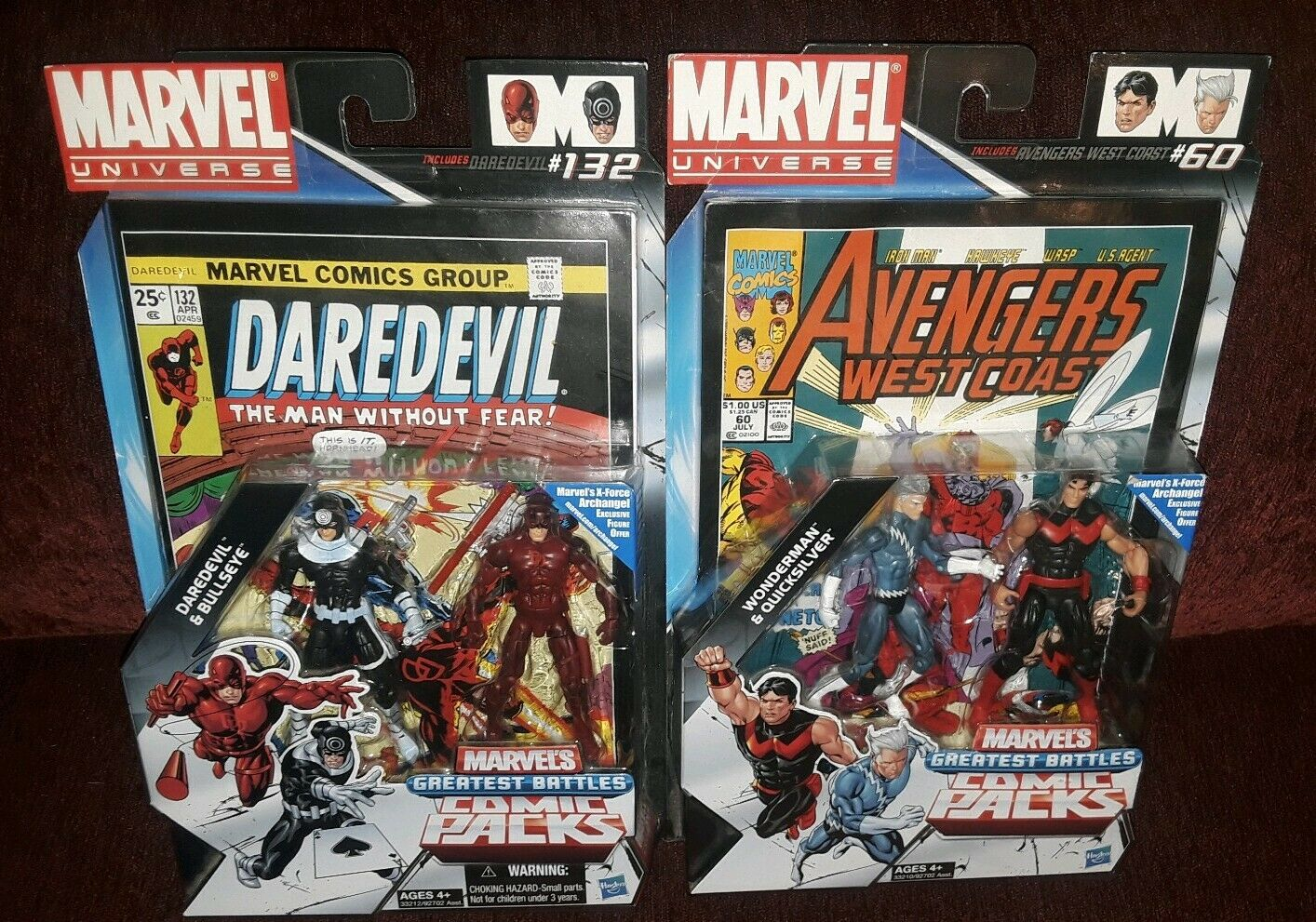 Marvel Universe LEGENDS Comic Packs  LOT QuickSilber Wonderman DArotEVIL RARE