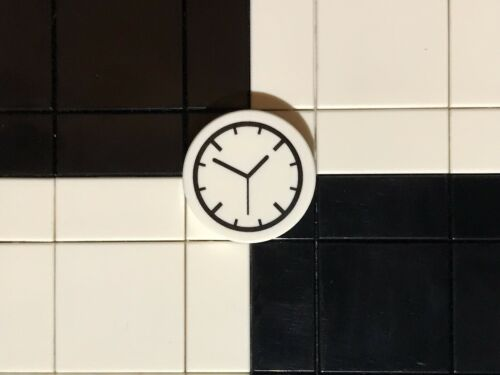 Lego Round 2x2 Tile With Wall Clock Design X 1 Modular Utensil Accessory