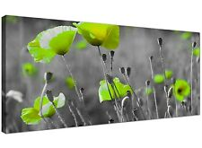 Green Large Canvas of Flowers for Living Room  - 120cm x 50cm - 1138