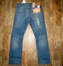 New Men's Levi's 501 Straight Button Fly Pants Jeans 34x32