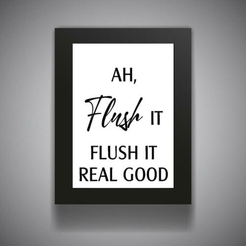 FUNNY BATHROOM QUOTE Kitchen Print Contemporary Wall Art Poster Toilet Home v5