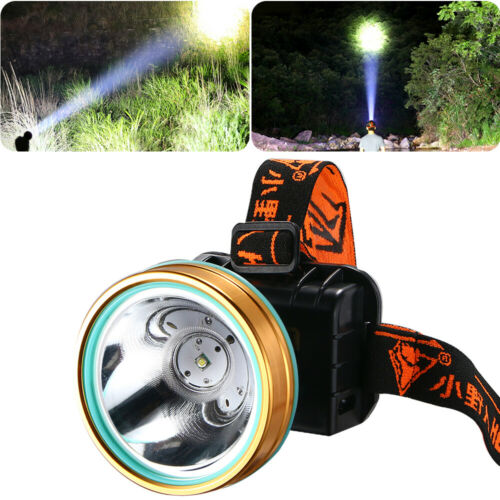 Head Torch//Headlight LED USB Rechargeable Headlamp Work Flashlight For Camping