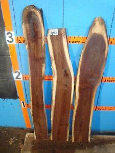 # 7860 3, Black Walnut Live Edge Slabs lumber craft wood