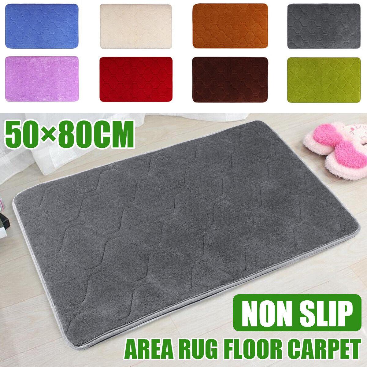 50×80cm Soft Memory Foam Bath Mat Non Slip Luxury Bathroom Floor Door Rug ~ a