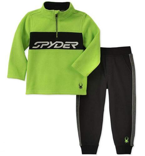 Spyder Boys Green /& Black Polar Fleece 2pc Jogger Size 2T 3T 4T 4 5 6 7