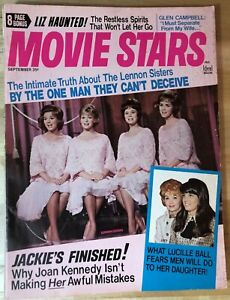 VINTAGE-MOVIE-STARS-MAGAZINE-SEPT-1969-LENNON-SISTERS-LUCILLE-BALL